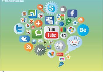 Social Media Icons - Kostenloses vector #141679