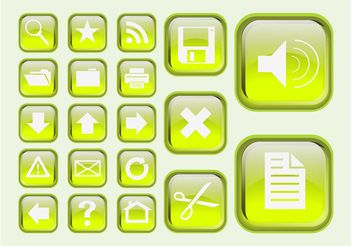 Green Interface Icons - бесплатный vector #141709