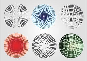 Halftone Circles - Free vector #141729