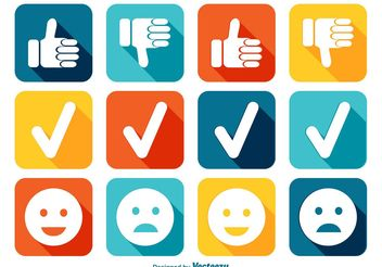 Like and Dislike Icon Set - vector gratuit(e) #141899
