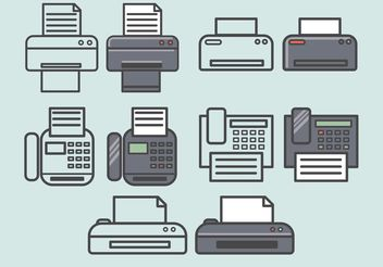 Vector Fax Icons Set - vector gratuit #141939