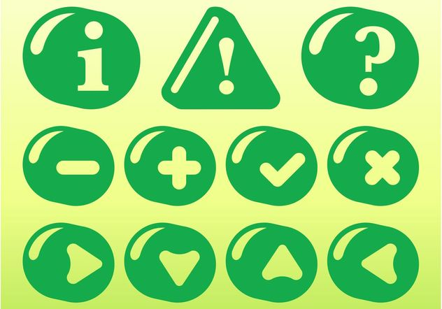 Green Icon Set - vector #141949 gratis