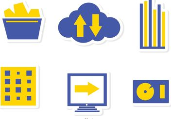 Big Data Management Icons Vector Pack 3 - Free vector #142009