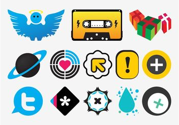 Colorful Vector Icons - Free vector #142049