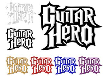 Guitar Hero Logo Set - vector gratuit #142079