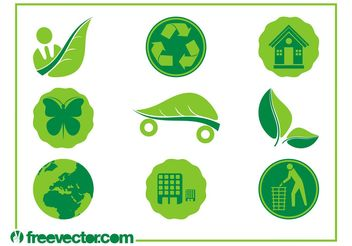 Ecology Icons Vectors - Free vector #142099