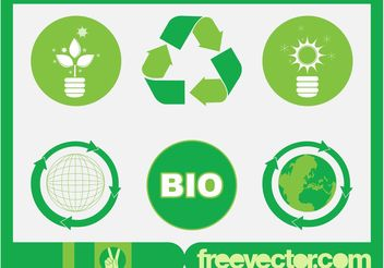 Vector Ecology Icons - Free vector #142109