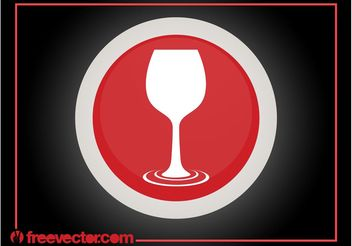 Wine Glass Logo - vector gratuit #142199