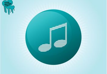 Music Button Vector - Kostenloses vector #142509