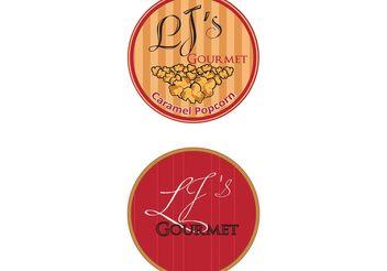 LJS Gourmet Popcorn Logo Vector - Kostenloses vector #142589