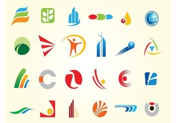 Simple Logo Shapes Vectors - vector gratuit #142629