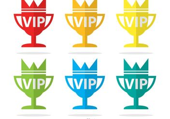 Vip Trophy Icons Vector Pack - Free vector #142719