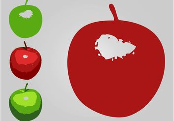 Apple Icons - vector gratuit #142809