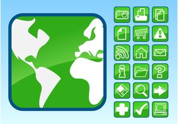 Glossy Icons Footage - Free vector #142839
