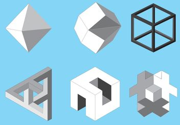 Free vector isometric icons - Free vector #142849