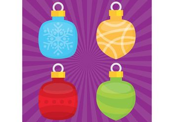 Christmas Ornament Vector Balls - Free vector #142919
