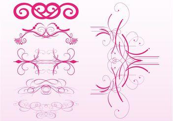 Swirling Ornaments Set - бесплатный vector #142939