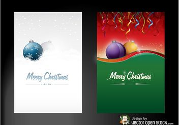 Christmas Posters - vector gratuit #142969