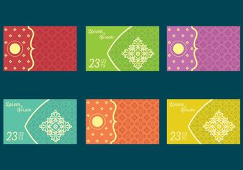 Indian Wedding Card Vectors - бесплатный vector #142979