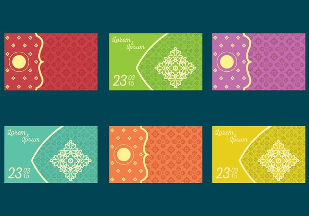 Indian Wedding Card Vectors - Free vector #142979
