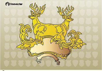 Deer Heraldry - Free vector #143099