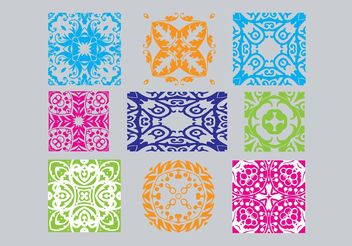 Art Deco Ornaments - Free vector #143109