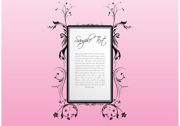 Letter With Flowers - vector #143129 gratis