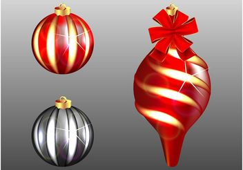 Christmas Tree Ornaments - Free vector #143169