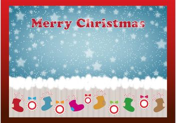 Christmas Stockings Card - vector gratuit #143239