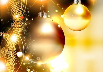 Golden Christmas Vector - vector #143289 gratis