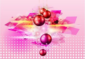 Shiny Christmas Balls - Free vector #143309