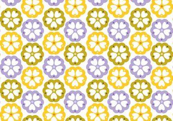 Floral Pattern Design Vectors - Free vector #143459