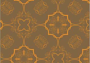 Retro Floral Pattern Vector - Kostenloses vector #143489