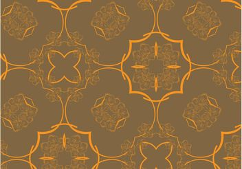 Retro Floral Pattern Vector - Free vector #143489