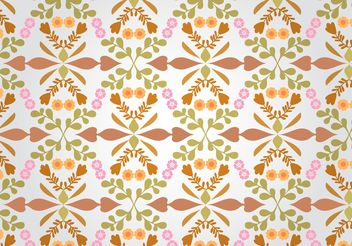 Seamless Floral Pattern Vector - бесплатный vector #143519