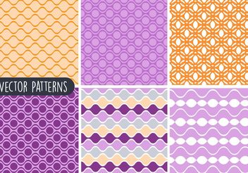 Colorful Geometric Vector Pattern Set - Free vector #143569