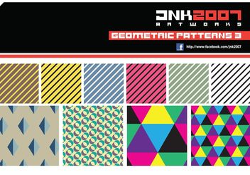 Geometric Patterns 3 - Free vector #143579
