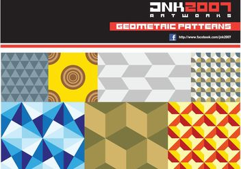 Geometric Patterns - vector gratuit #143619