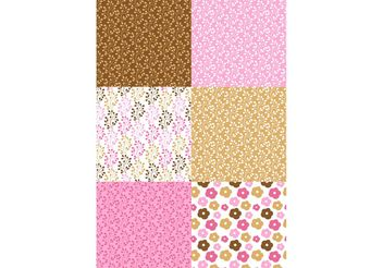 Pink and Brown Patterns - Free vector #143679