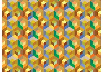 Cube Pattern Background Vector - Free vector #143839