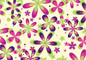 Colorful Flowers Pattern - vector gratuit #143999
