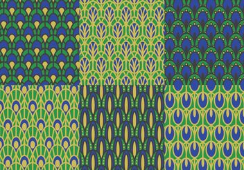 Peacock Pattern Vector Pack - vector gratuit #144119