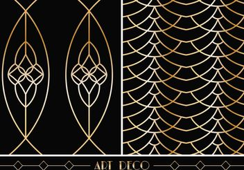 Free Art Deco Geometric Vector Patterns - Free vector #144239