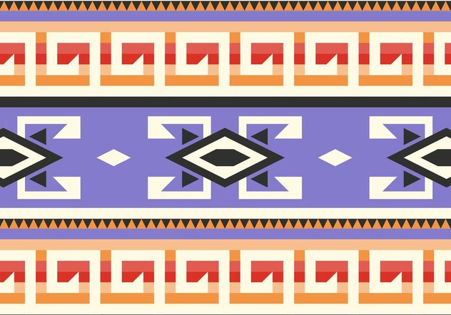 Purple Native American Pattern Vector - Free vector #144259
