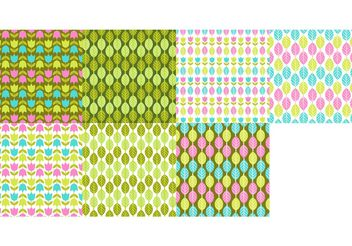 Spring Pattern Vector Set - Free vector #144429