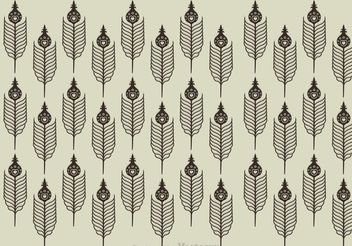 Peacock Feather Pattern - vector gratuit #144499
