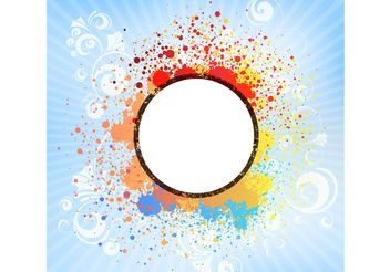 Color Splash Tile - Free vector #144609