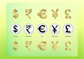 Currency Icons - vector #144779 gratis