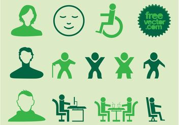 People Silhouette Icons - vector gratuit #144789