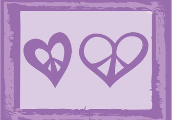 Peace Heart Vectors - Free vector #144809
